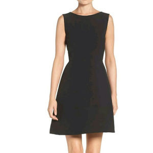 NWT CHARLES HENRY WOVEN FIT & FLARE DRESS